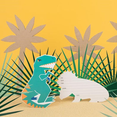 Set 8 Inviti per Party Dinosaur | MY LITTLE DAY | RocketBaby.it