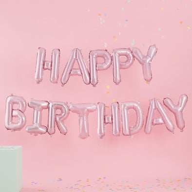 Ghirlanda di Palloncini Birthday Pink Pastel | GINGER RAY | RocketBaby.it