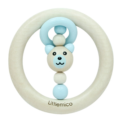 Anello da Mordere e Sonaglio Bear Blue | LITTLEMICO | RocketBaby.it