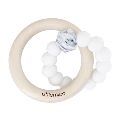 Anello da Mordere in Silicone White | LITTLEMICO | RocketBaby.it