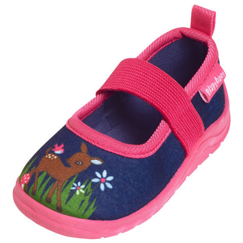 Scarpe Antiscivolo Da Casa Deer Navy Pink | PLAYSHOES | RocketBaby.it