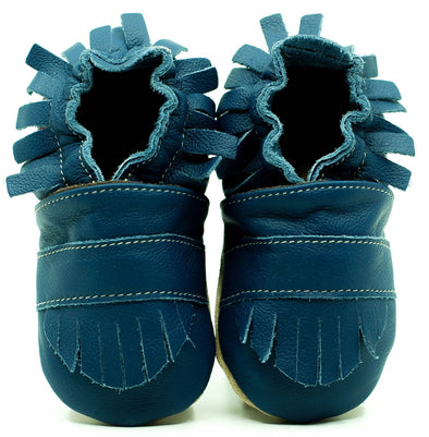 Babbucce Soft Sole Boho Navy Blue | FIORINO | RocketBaby.it