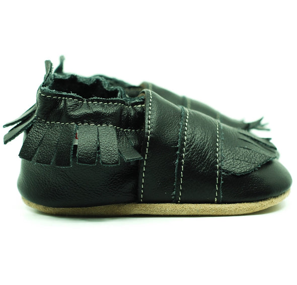 Babbucce Soft Sole Boho Black | FIORINO | RocketBaby.it