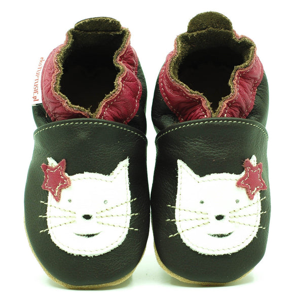 Babbucce Soft Sole Chocolat White Cat | FIORINO | RocketBaby.it