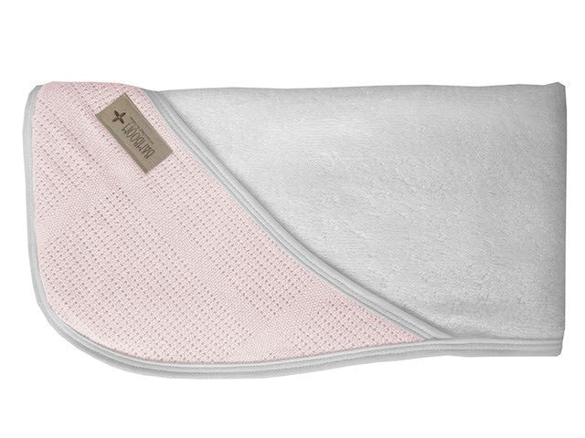 BAMBOOM-BAGNO DUO NEW VINTAGE Hooded towel + wash glove ROSA E ...