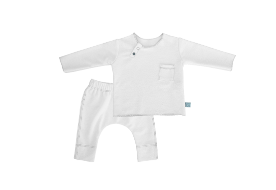 Twin Set Bianco in fibra di bamboo - RocketBaby - 1