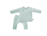 Twin Set Verde in fibra di bamboo | BAMBOOM | RocketBaby.it