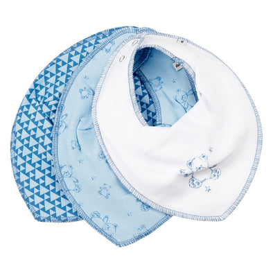 Set 3 Bavaglini Bandana Light Dusty Blue | PIPPI | RocketBaby.it