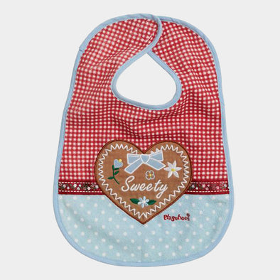 Bavaglino con Velcro Country House Red Blue | PLAYSHOES | RocketBaby.it