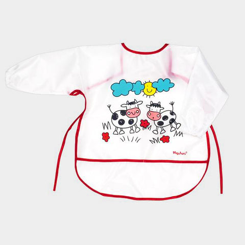 Bavaglino XL con Tasca e Maniche Cows | PLAYSHOES | RocketBaby.it