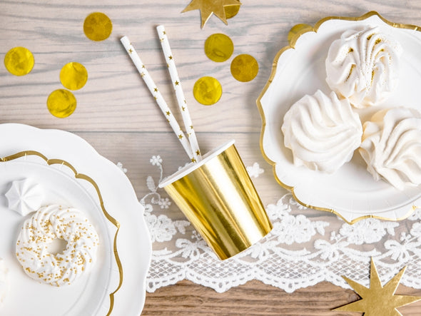 Set 6 Bicchieri di Carta Gold | PARTY DECO | RocketBaby.it