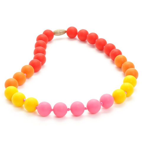 Collana Baby da Mordere Bleecker Punchy Pink | CHEWBEADS | RocketBaby.it
