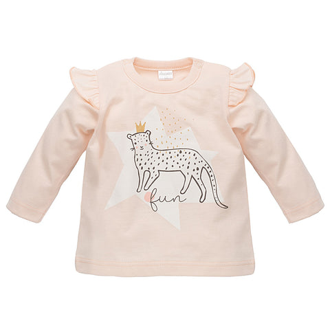 Blousa Maniche Lunghe Sweet Panther Rosa | PINOKIO | RocketBaby.it