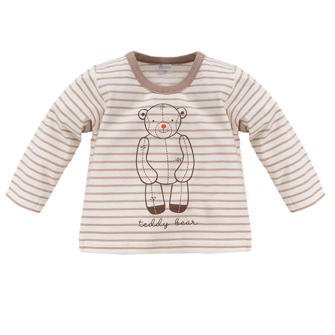 Blousa Maniche Lunghe Teddy Bear Ecru | PINOKIO | RocketBaby.it