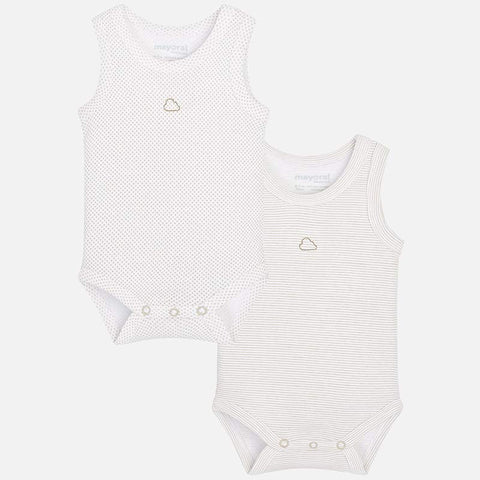 Set 2 Body Senza Maniche Macadamia | MAYORAL | RocketBaby.it
