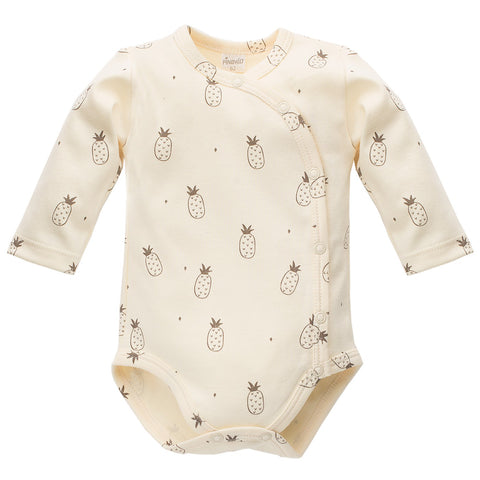 Body Maniche Lunghe Con Bottoni Leon Beige | PINOKIO | RocketBaby.it