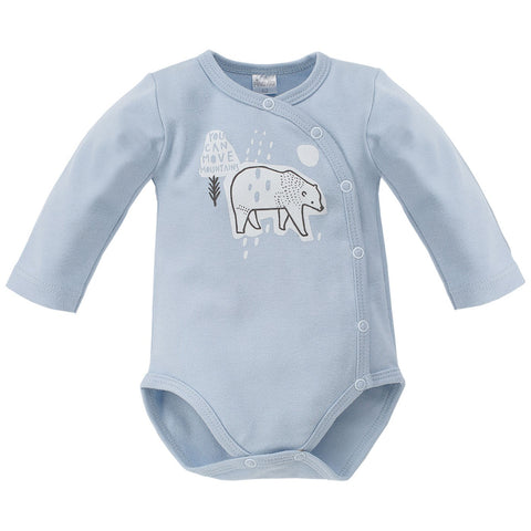 Body Maniche Lunghe Con Bottoni North Azzurro | PINOKIO | RocketBaby.it