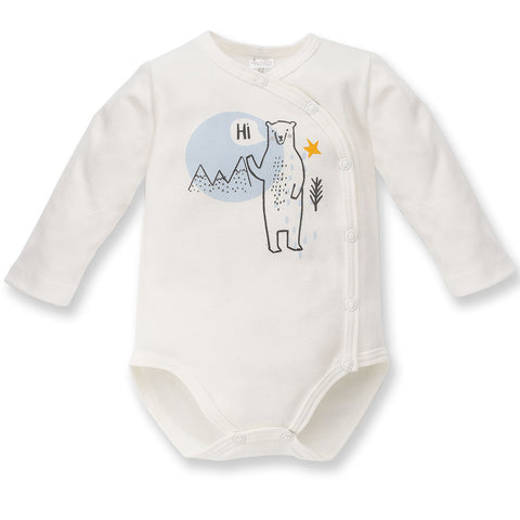 Body Maniche Lunghe Con Bottoni North Ecru | PINOKIO | RocketBaby.it
