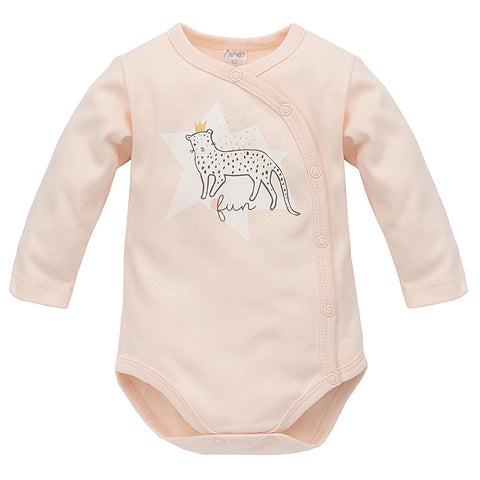 Body Maniche Lunghe Con Bottoni Sweet Panther Rosa | PINOKIO | RocketBaby.it