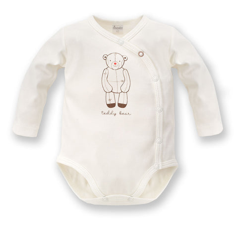Body Maniche Lunghe Con Bottoni Teddy Bear Ecru | PINOKIO | RocketBaby.it