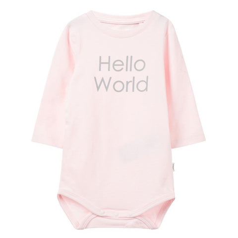 Body a Maniche Lunghe Hello World Ballerina | NAME IT | RocketBaby.it