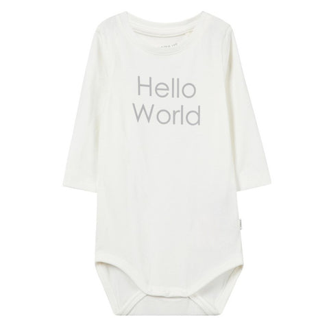 Body a Maniche Lunghe Hello World Snow White | NAME IT | RocketBaby.it