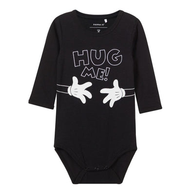 Body a Maniche Lunghe Hug Me Black | NAME IT | RocketBaby.it