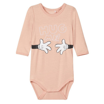 Body a Maniche Lunghe Hug Me Rose Cloud | NAME IT | RocketBaby.it