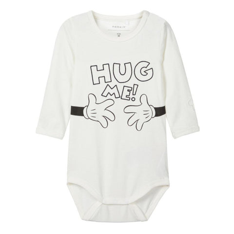 Body a Maniche Lunghe Hug Me Snow White | NAME IT | RocketBaby.it