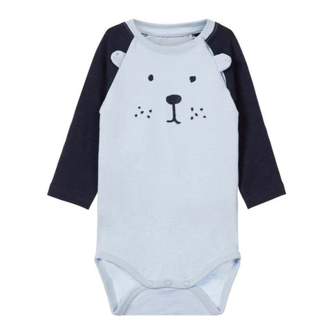 Body a Maniche Lunghe Teddy Bear Skyway | NAME IT | RocketBaby.it