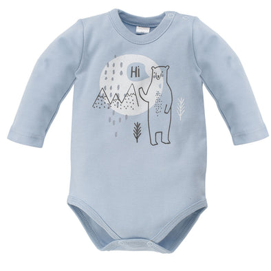 Body Maniche Lunghe North Azzurro | PINOKIO | RocketBaby.it
