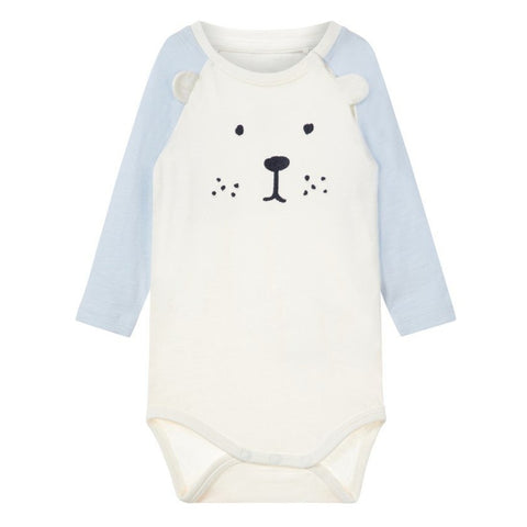 Body a Maniche Lunghe Teddy Bear Snow White | NAME IT | RocketBaby.it