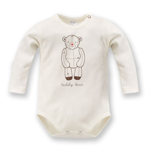 Body Maniche Lunghe Teddy Bear Ecru | PINOKIO | RocketBaby.it