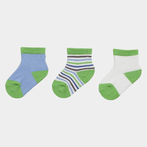 Set 3 Paia Calze Neonato Green Blue | PLAYSHOES | RocketBaby.it
