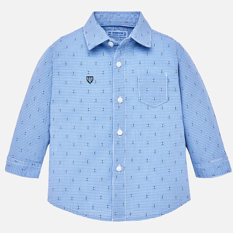 Camicia a Maniche Lunghe Fantasia Celeste | MAYORAL | RocketBaby.it