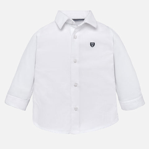 Camicia Cotone a Maniche Lunghe Bianco | MAYORAL | RocketBaby.it