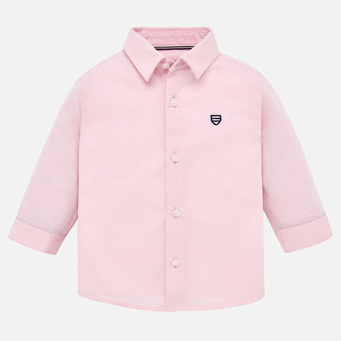 Camicia Cotone a Maniche Lunghe Rosa | MAYORAL | RocketBaby.it
