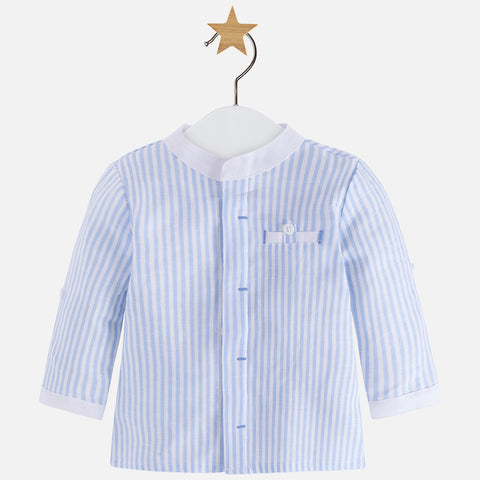 Camicia in Lino a Maniche Lunghe Sky Blue | MAYORAL | RocketBaby.it