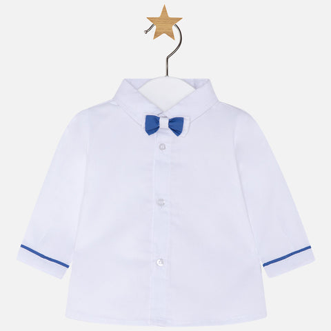Camicia a Maniche Lunghe con Papillon Bianco | MAYORAL | RocketBaby.it