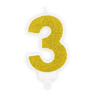 Candelina per Torta Numero 3 Gold | PARTY DECO | RocketBaby.it