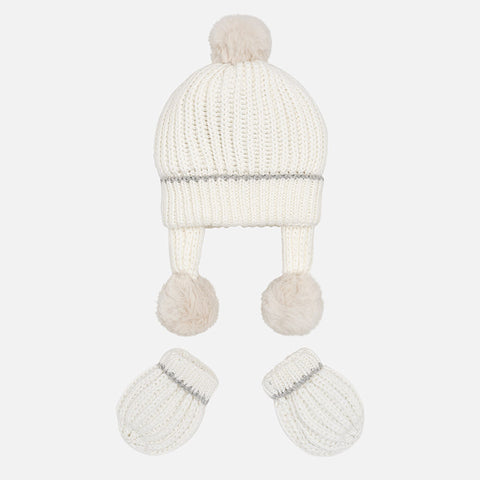 Set Completo Cappello e Guanti Tricot Panna | MAYORAL | RocketBaby.it