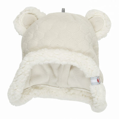 Cappello in Pile con Orecchie Botanimal Ivory | LODGER | RocketBaby.it