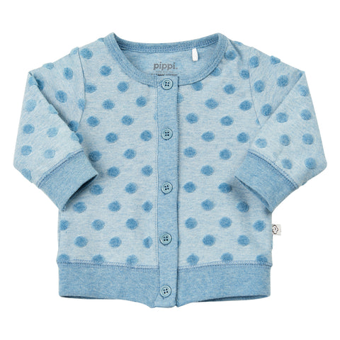 Cardigan Jacquard a Maniche Lunghe Smoke Blue Melange | PIPPI | RocketBaby.it