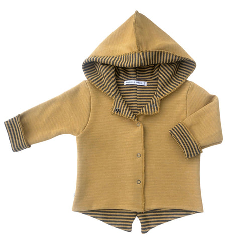 Cardigan Parker con Cappuccio Ocra | BAMBOOM | RocketBaby.it