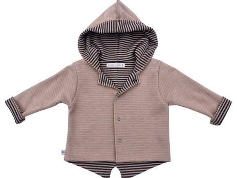 Cardigan Parker con Cappuccio Old Pink | BAMBOOM | RocketBaby.it