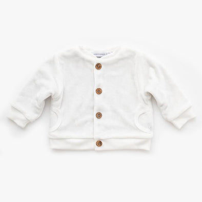 Cardigan In Velluto Offwhite | BAMBOOM | RocketBaby.it