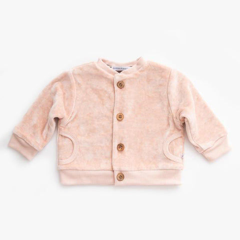 Cardigan In Velluto Rose | BAMBOOM | RocketBaby.it