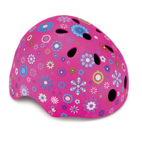 Caschetto Protettivo Flowers Deep Pink XS (51-54 cm) | GLOBBER | RocketBaby.it