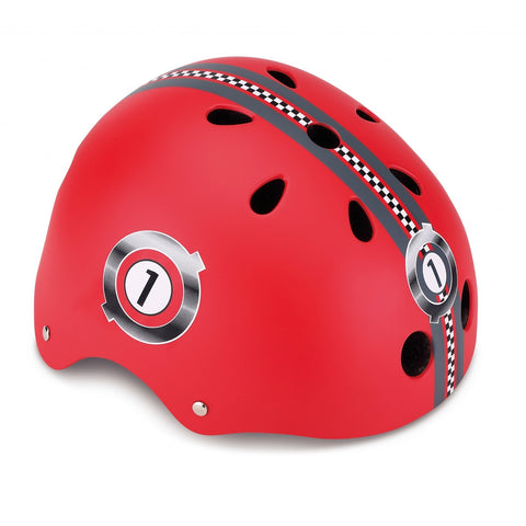 Caschetto Protettivo Racing Red XS (51-54 cm) | GLOBBER | RocketBaby.it