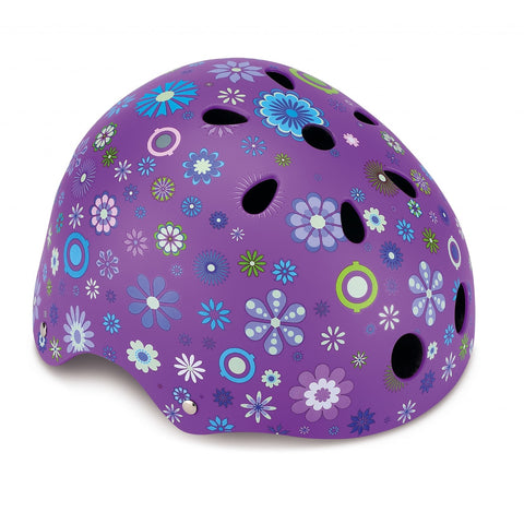Caschetto Protettivo Flowers Violet XS (51-54 cm) | GLOBBER | RocketBaby.it